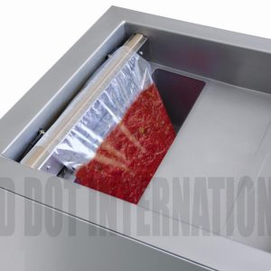 Closeup from Vacuum Chamber Sealing Machine (Vacuum Sealer / Cryovac)